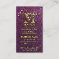 Girly business cards best customizable modern hot pink glitter business card colourmoves