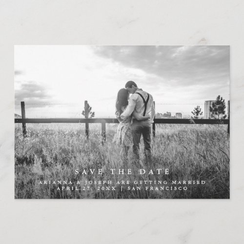 Modern Message | Save the Date Photo