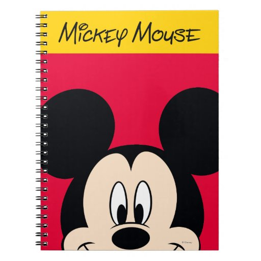 Modern Mickey | Smiling Head Spiral Notebook