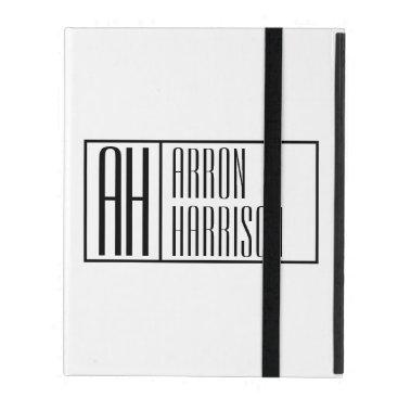 Modern Minimal Initials & Name Logo iPad Case