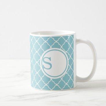 Modern Monogram Custom Mug - Blue