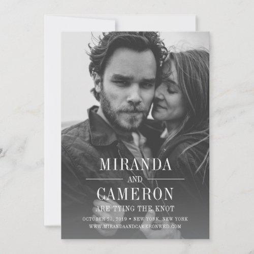 Modern Mood | Photo Save the Date Card