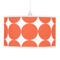 Modern Retro Vibe Orange Polka Dots Hanging Lamp