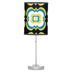 Modern Stylish Bold Square Repeat Pattern Desk Lamp