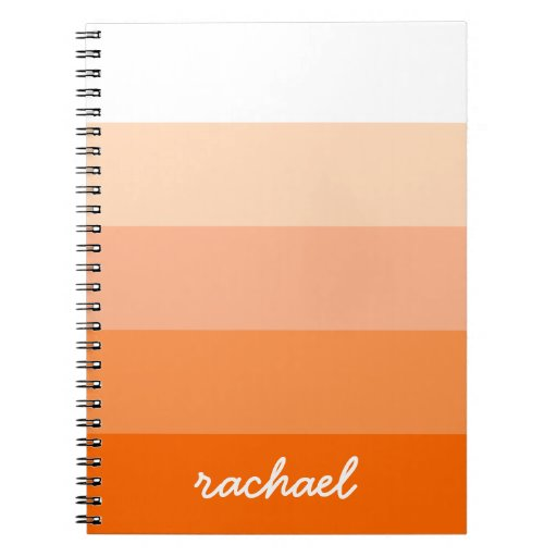 Modern Trendy Stripes Personalized Spiral Notebook