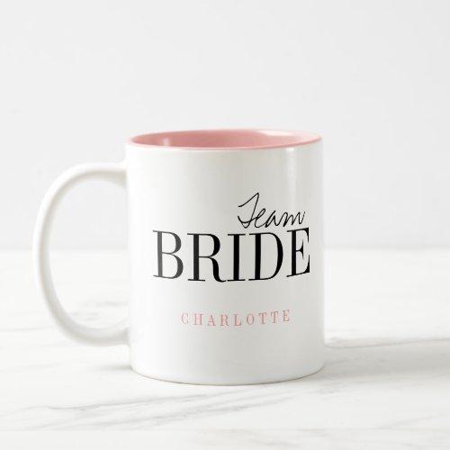 Modern Typography Personalized Team Bride Mug