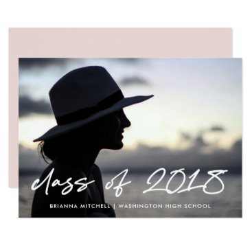 Modern Writing | Class of 2018 Photo Grad Party Invitation