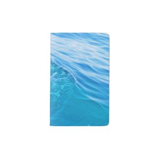 Moleskine notebook cover blue water