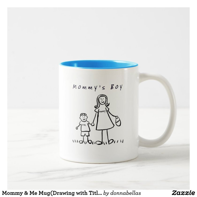 Mommy & Me Mug(Drawing with Title) Two-Tone Coffee Mug