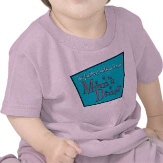Mom's Diner Retro Pro-Breastfeeding Design shirt
