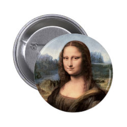Mona Lisa Portrait / Painting Button