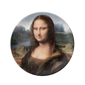 Mona Lisa Portrait / Painting Porcelain Plate