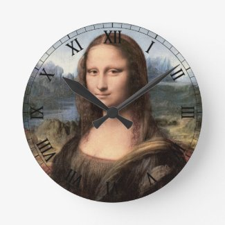 Mona Lisa Portrait / Painting Round Clock