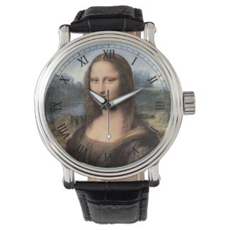 Mona Lisa Portrait / Painting Wrist Watches