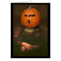 Mona Lisa Pumpkin Greeting Card