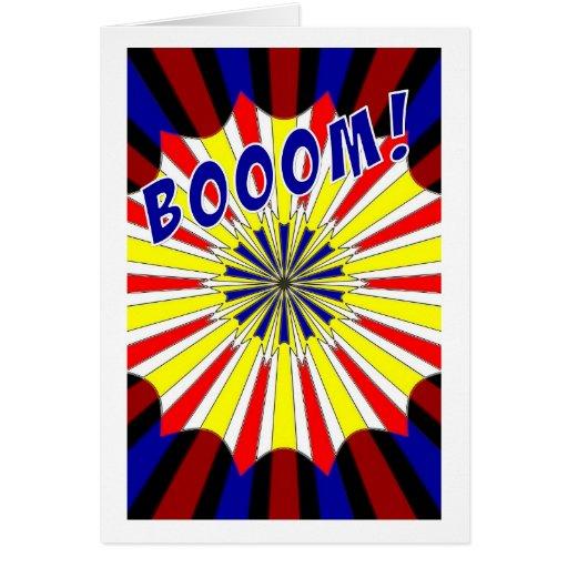 Mondrian's explosion fireworks Pop Art Card | Zazzle