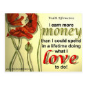 Money Affirmation Postcard