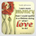 Money Affirmation Stickers