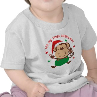 Monkey Boy 1st Christmas T-shirt
