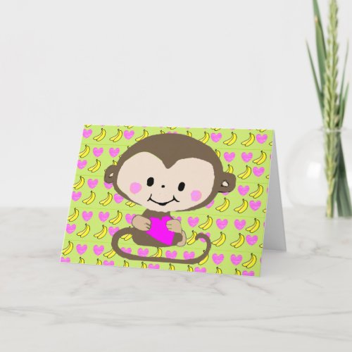 Monkey Love - Personalized Holiday Card
