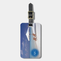 Monogram Beach Scene Tag For Luggage