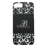 Monogram Black and White Damask iPhone 7 Case