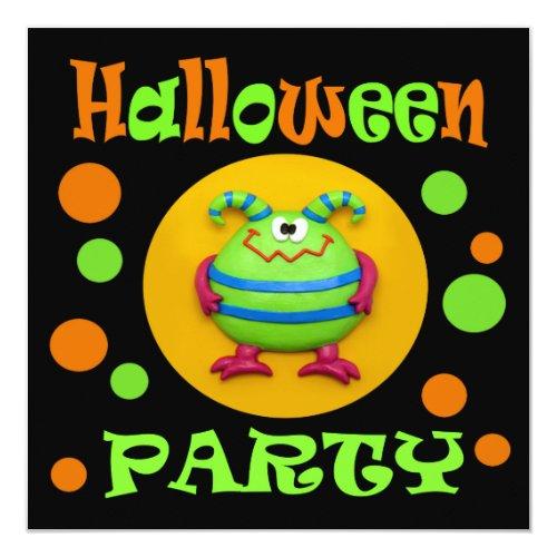 Monster Halloween Party Invitation