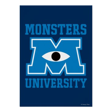 Monsters University Blue Logo Poster