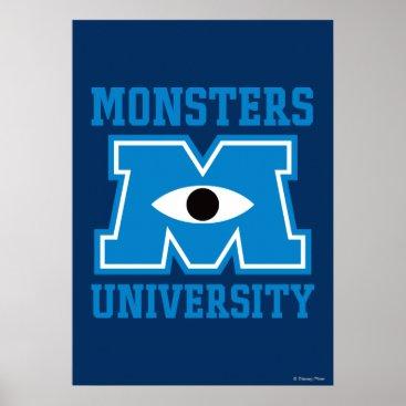 Monsters University Blue Logo Poster