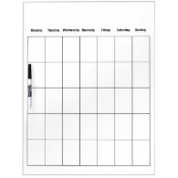 Monthly Dry Erase Whiteboard