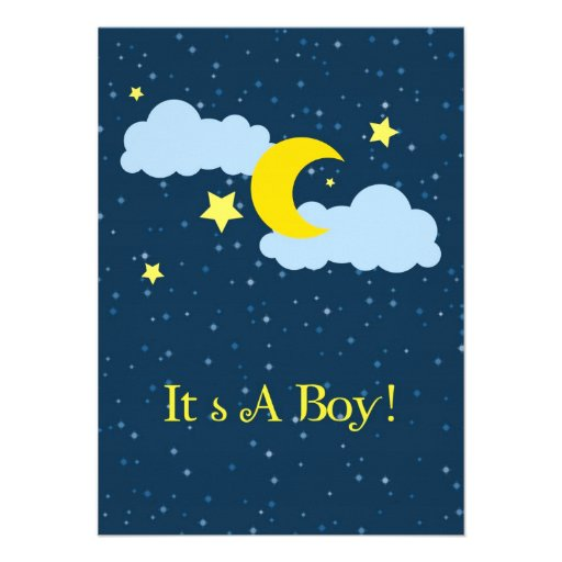 Baby Shower Invitations Moon And Stars