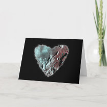 Moon Heart Sci Fi Valentine Love Romance Card