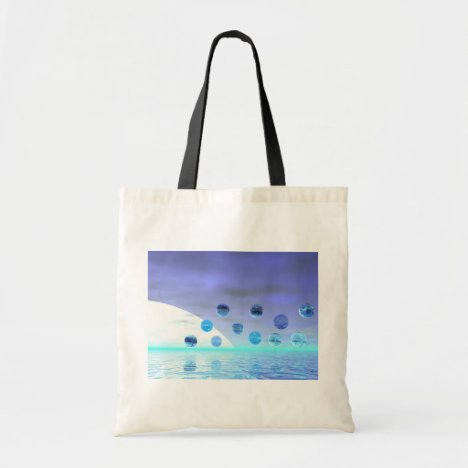 Moonlight Wonder, Abstract Journey to the Unknown Tote Bag