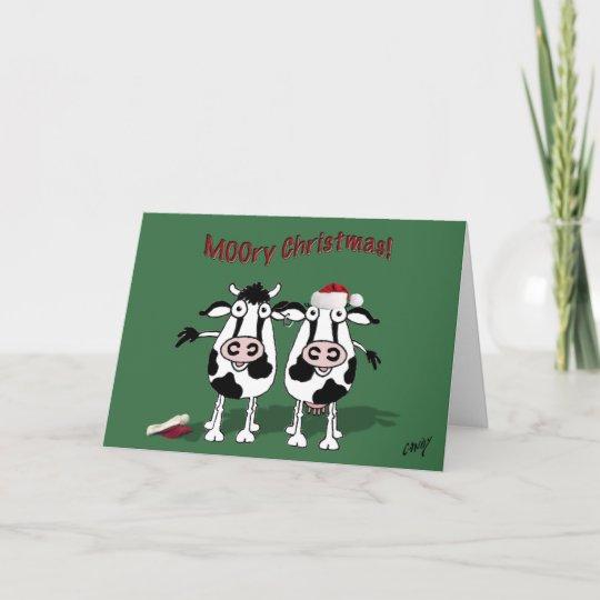 MOOry Christmas And A Happy MOO Year Holiday Card