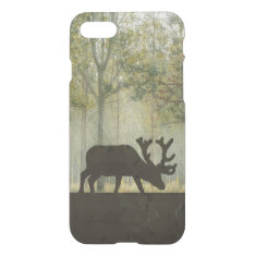 Moose in Forest Illustration iPhone 7 Case