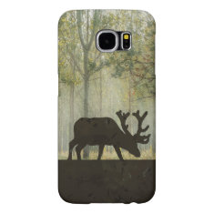 Moose in Forest Illustration Samsung Galaxy S6 Case
