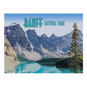 Moraine Lake Banff National Park Canada Vintage Postcard
