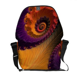 Morning Beauty Florescent Fractal Rickshaw Bag