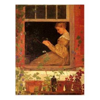 Morning Glories - Postcard