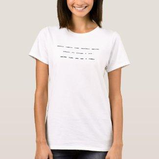 Morse code: Black lives matter. T-Shirt