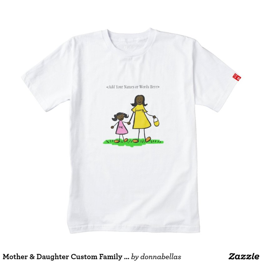 Mother & Daughter Custom Family Characters Shirt
