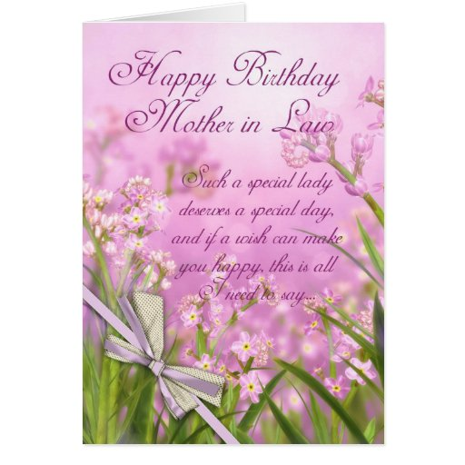 Mother in Law Birthday Card - Pink Feminine Floral | Zazzle