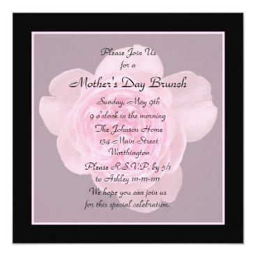 Mother's Day Brunch Invitation Pink Rose