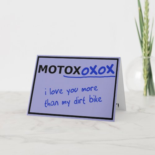 Motocross Dirt Bike Valentine's Day Card Funny by allanGEE