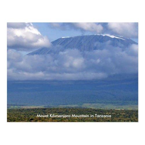 Mount Kilimanjaro Mountain in Tanzania Posters fun Postcard