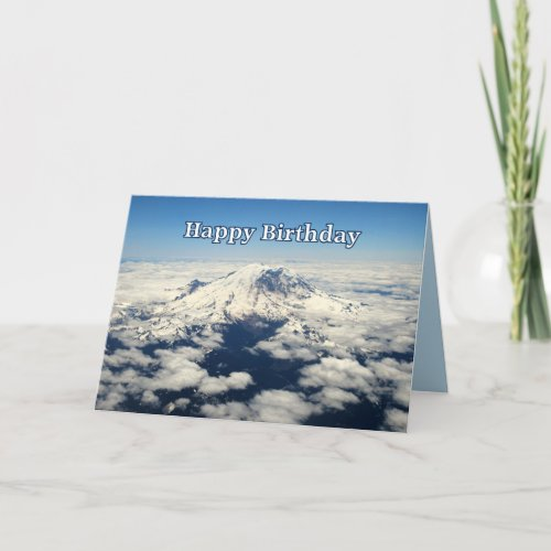 Mount Rainier, Washington, Happy Birthday Card card