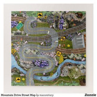 Mountain Drive Street Play Map Jigsaw Puzzle