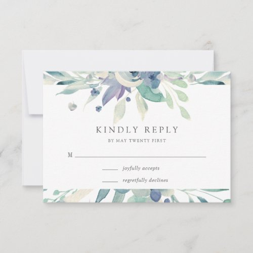 Mountain Meadow | Watercolor Botanical Floral RSVP Card