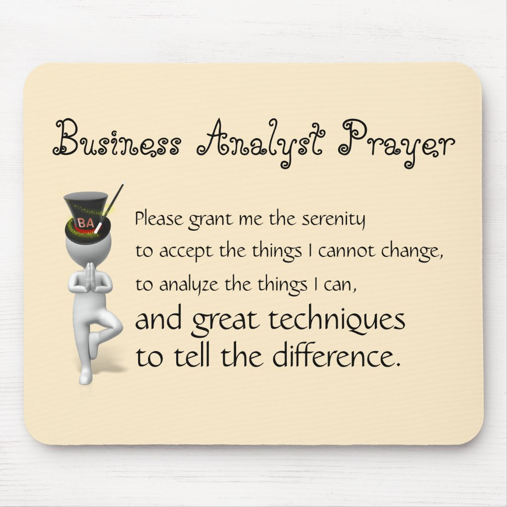 Mouse Pad Business Analyst Prayer