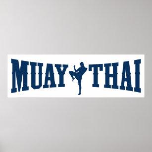 muay thai posters prints zazzle